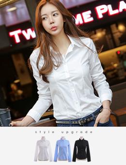 弹性衬衫[3color]